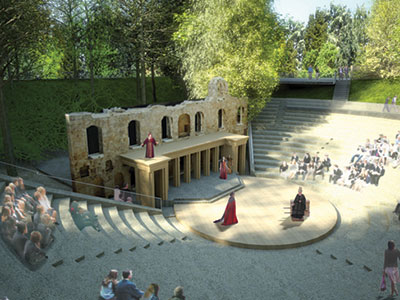 Heinemann internationale Schulberatung – Amphitheater im Bradfield College, ein Internat in England