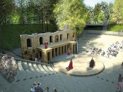Heinemann internationale Schulberatung – Amphitheater im Bradfield College, ein Internat in England