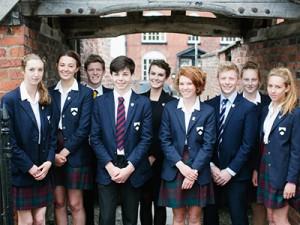 Schülergruppe der Oswestry School