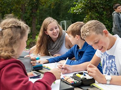 Schüler des Nordsee-Internats in St. Peter Ording